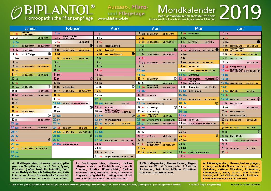 Mondkalender kennenlernen